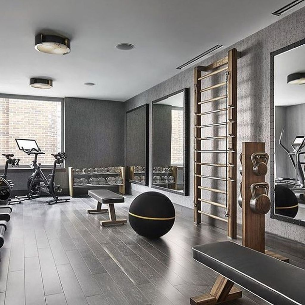 Amazing Home Gym Room Design Ideas 43