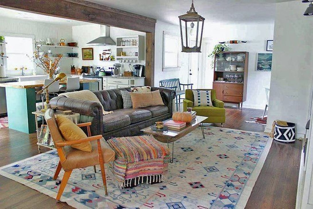 The Best Bohemian Farmhouse Decorating Ideas For Your Living Room 08