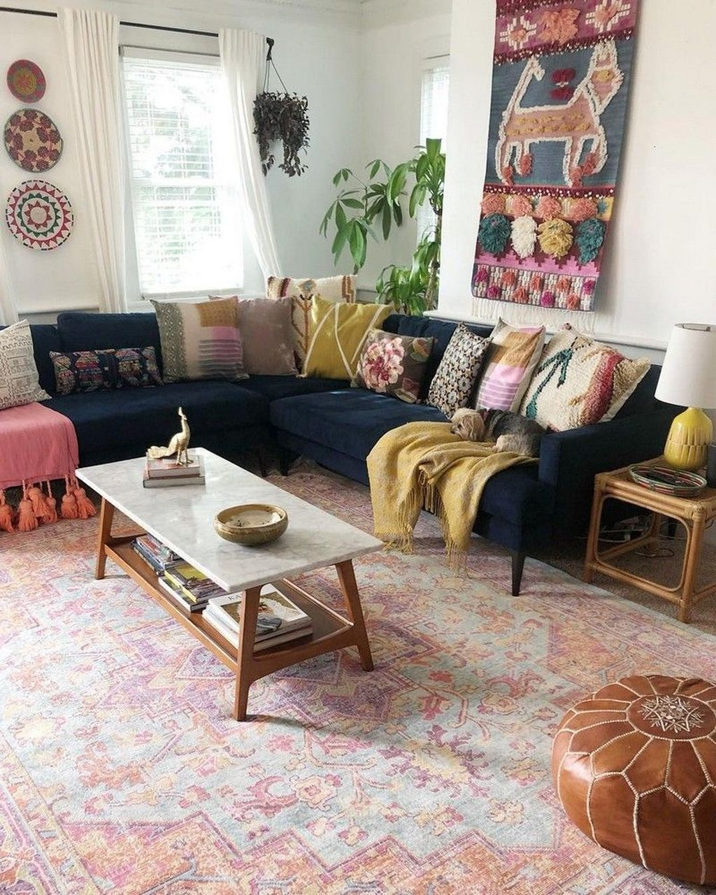 The Best Bohemian Farmhouse Decorating Ideas For Your Living Room 18