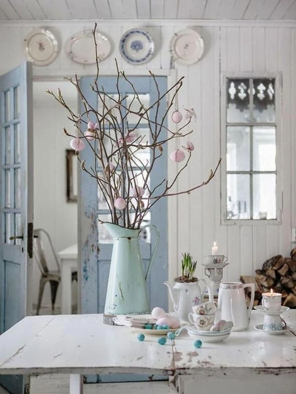 Lovely Easter Living Room Decor Ideas 10