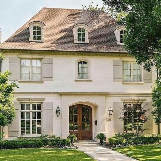 Stylish French Country Exterior For Your Home Design Inspiration 03