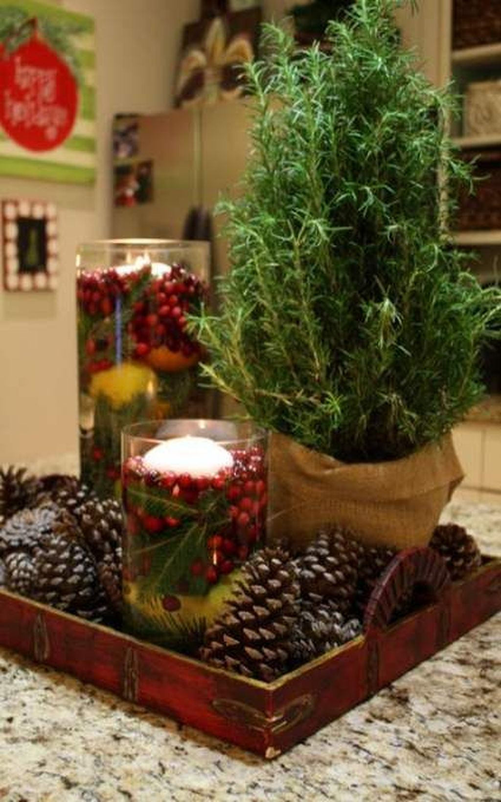 Amazing Christmas Decor For Kitchen Table 32