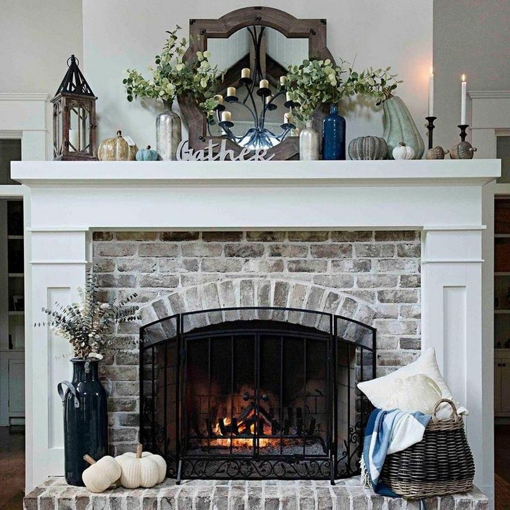 Nice Fireplace Decor Ideas Best For Wintertime 07
