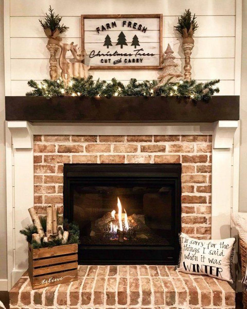 Nice Fireplace Decor Ideas Best For Wintertime 15