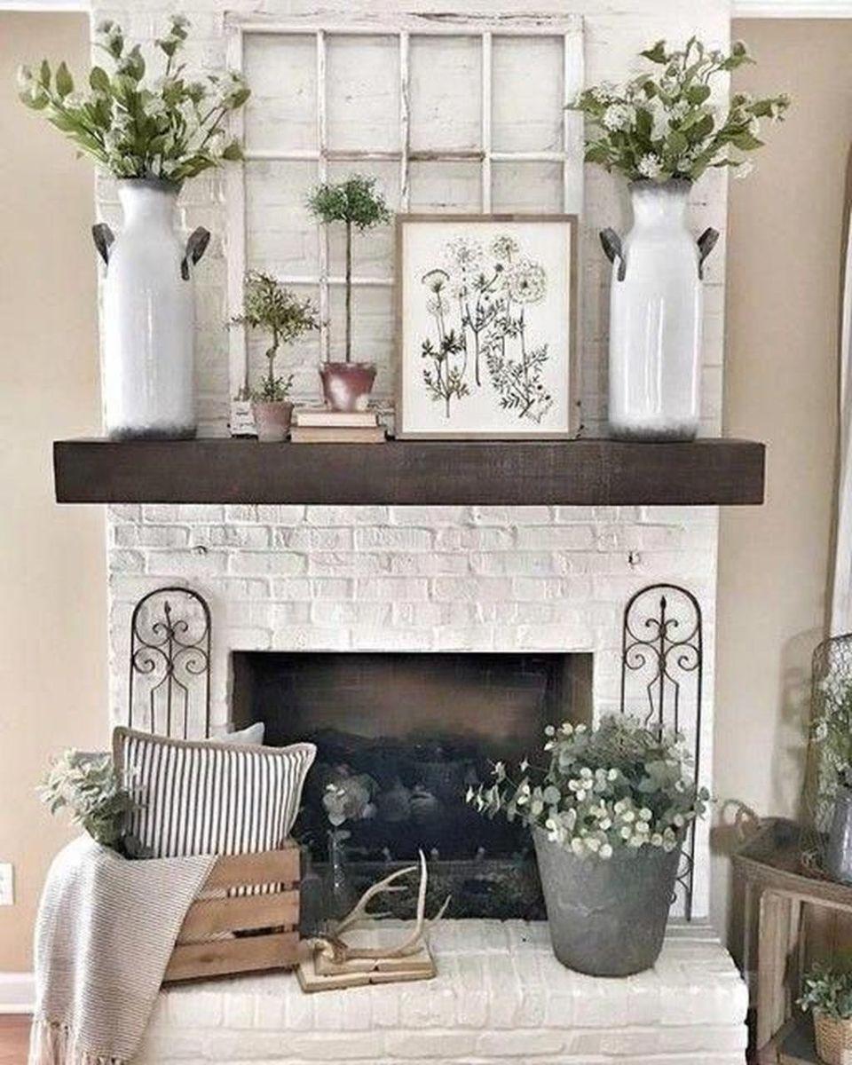 Nice Fireplace Decor Ideas Best For Wintertime 24