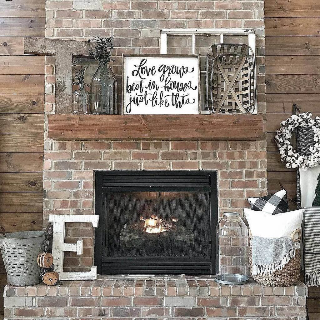 Nice Fireplace Decor Ideas Best For Wintertime 43