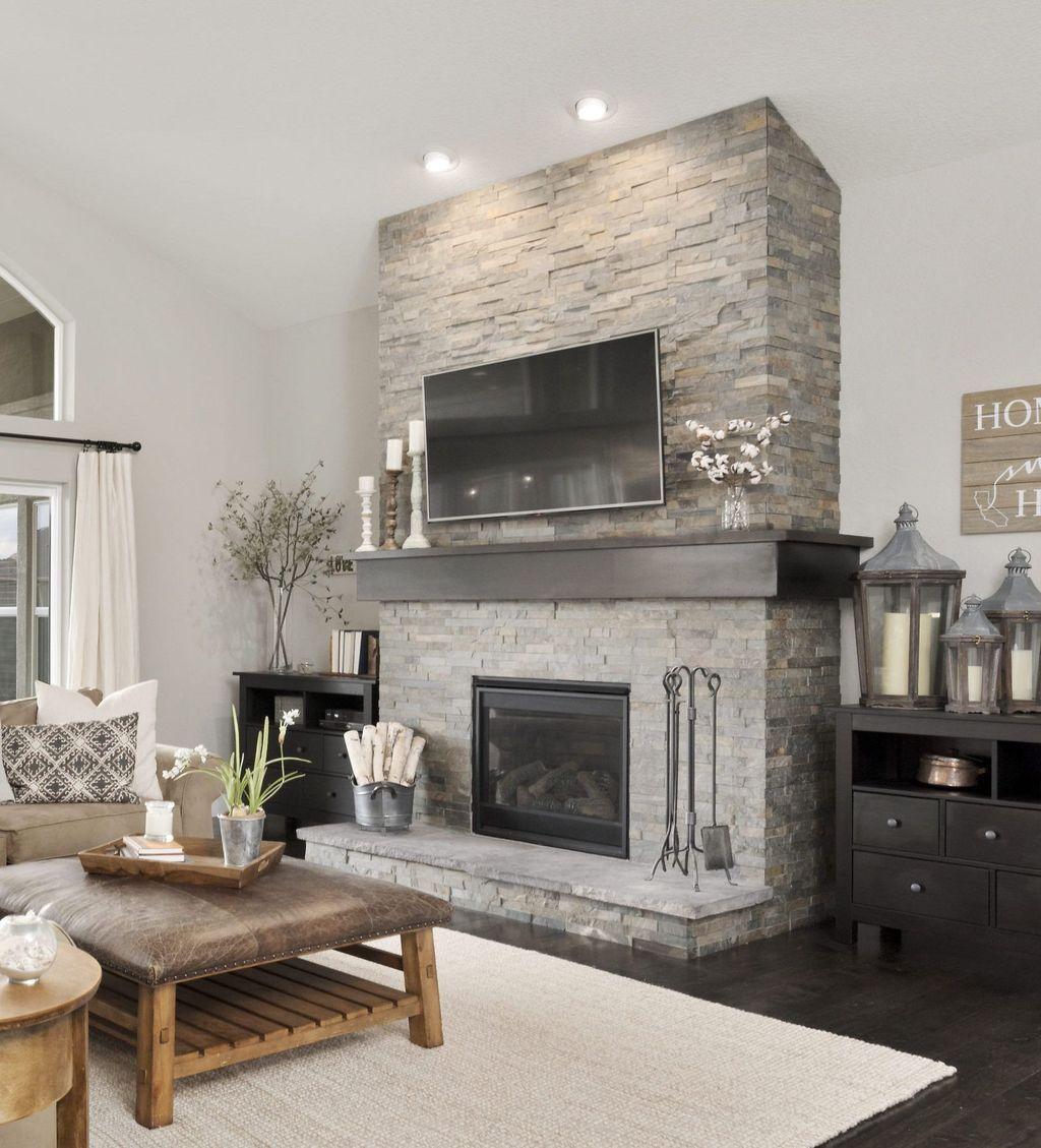 Nice Fireplace Decor Ideas Best For Wintertime 44