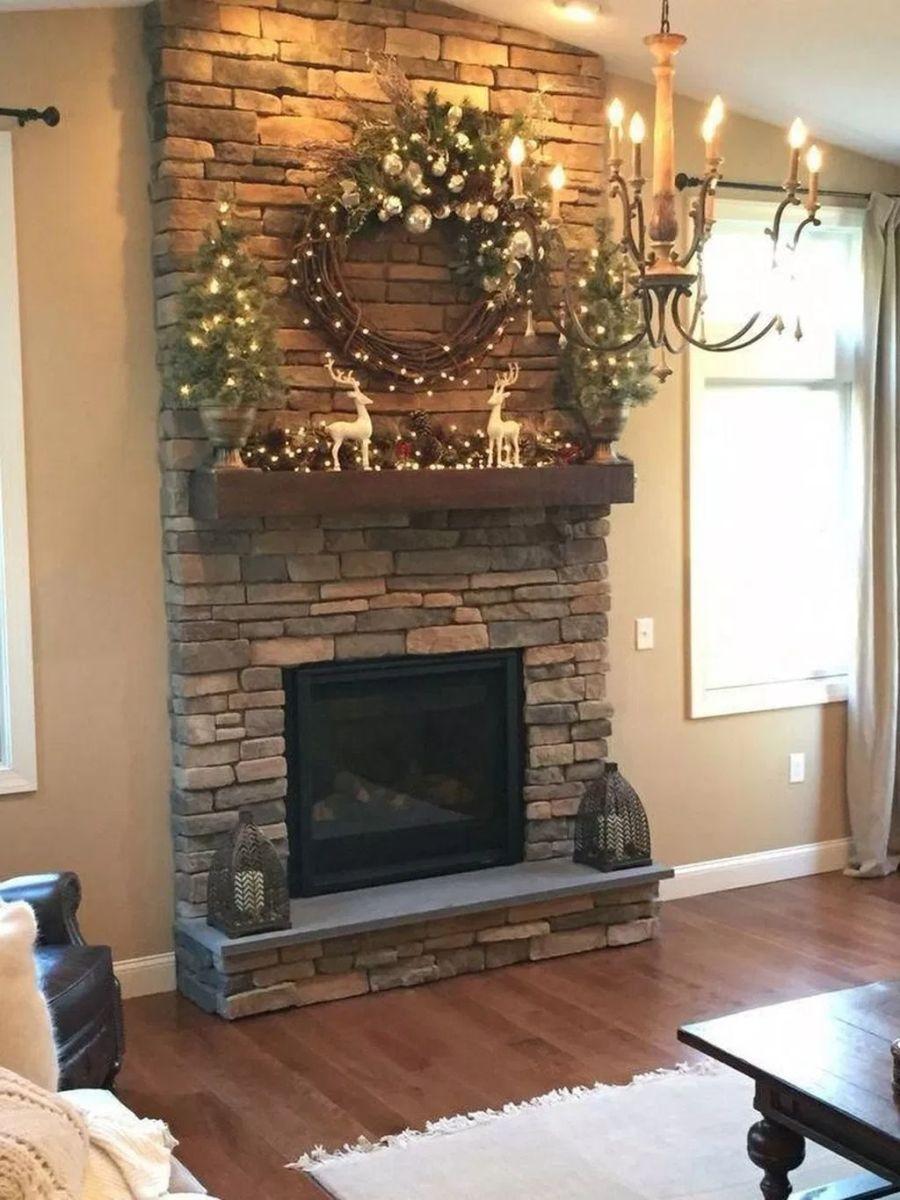 Nice Fireplace Decor Ideas Best For Wintertime 45