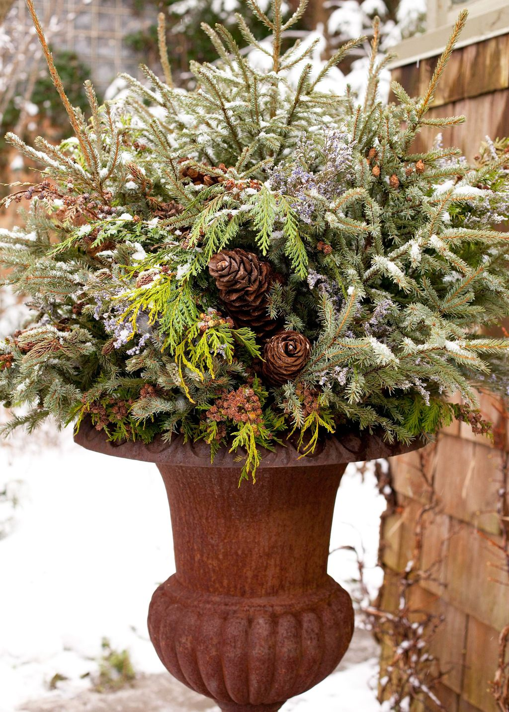 Perfect Outdoor Winter Planters Ideas 17