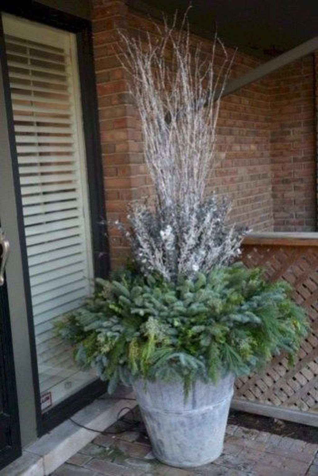 Perfect Outdoor Winter Planters Ideas 36