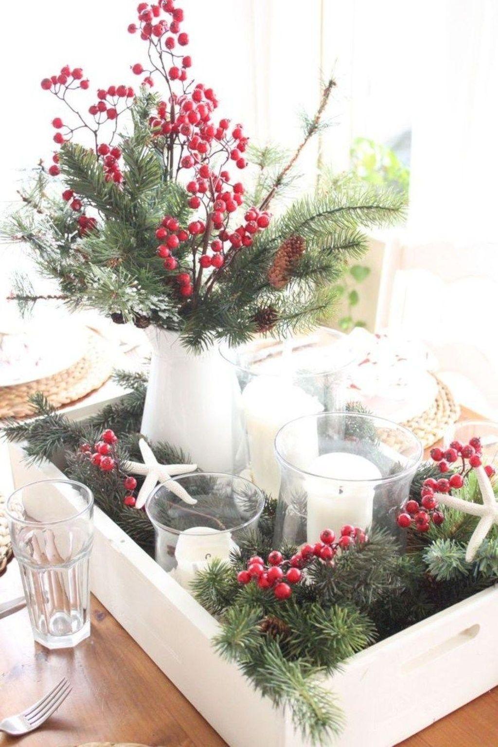 Popular Christmas Theme Coffee Table Decoration Ideas 12