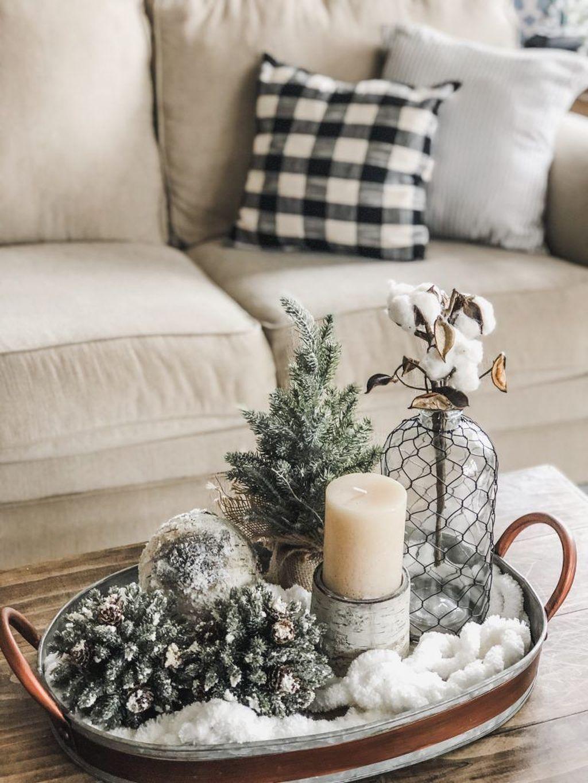 Popular Christmas Theme Coffee Table Decoration Ideas 21