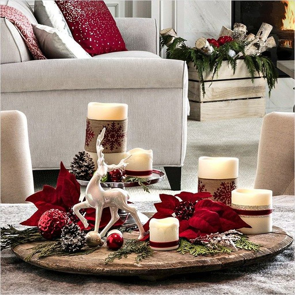 Popular Christmas Theme Coffee Table Decoration Ideas 43