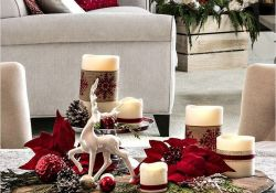 Popular Christmas Theme Coffee Table Decoration Ideas 43