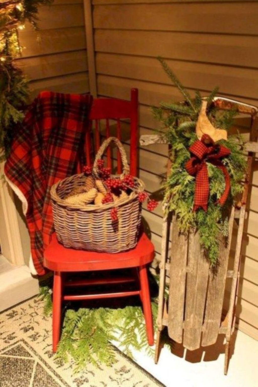 Popular Rustic Winter Porch Decoration Ideas 18