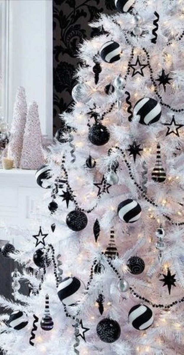 Stunning White Christmas Tree Ideas To Decorate Your Interior 14