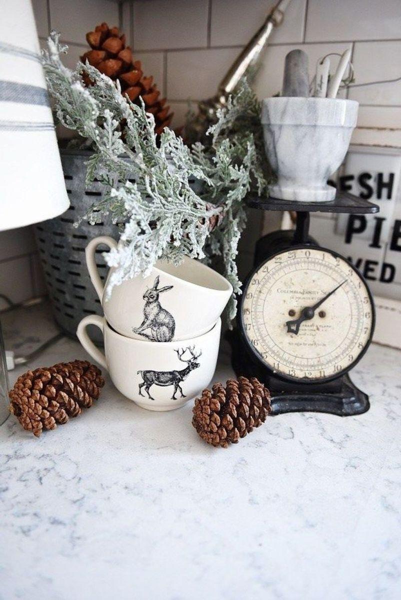 Stunning Winter Theme Kitchen Decorating Ideas 16