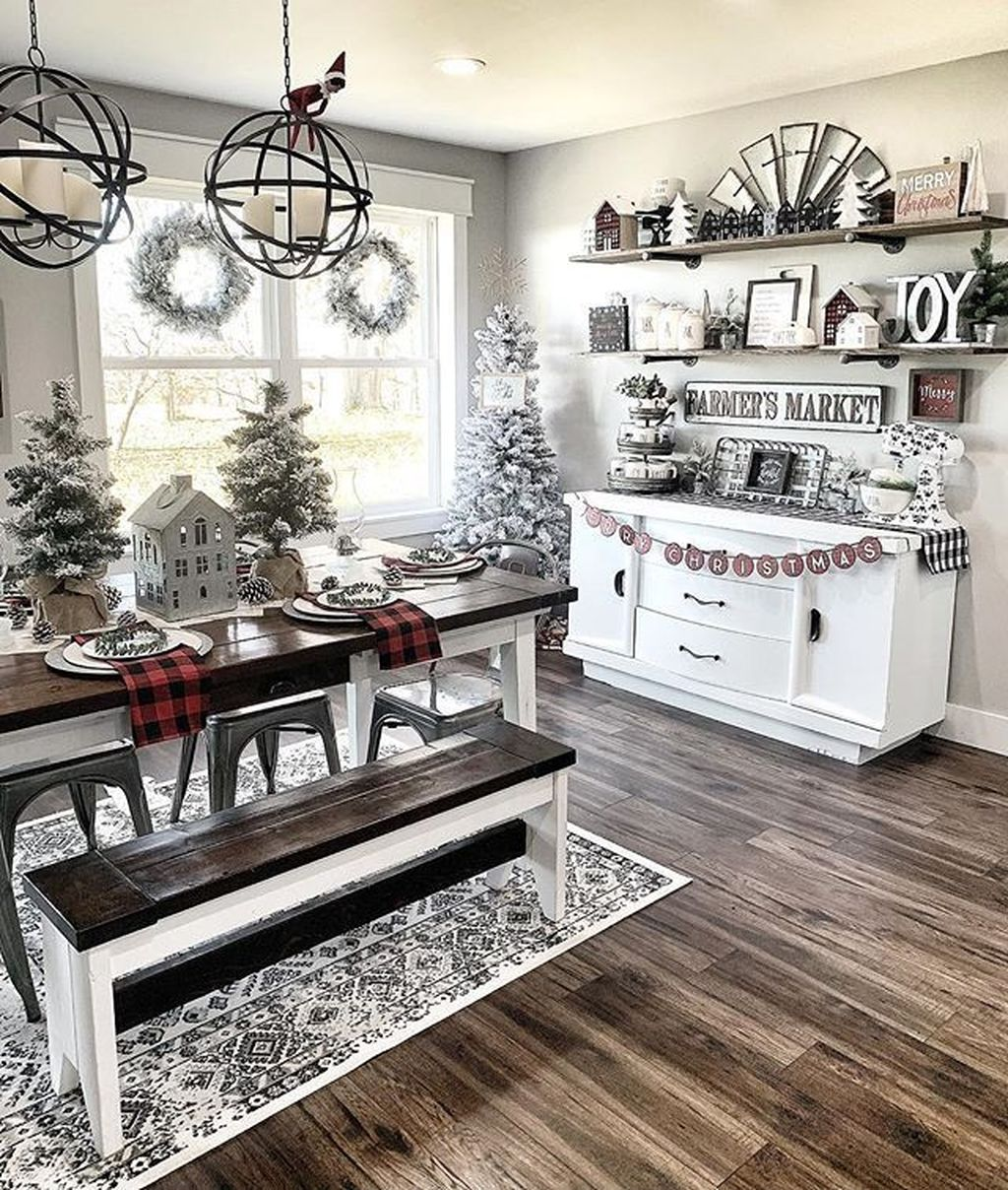 Stunning Winter Theme Kitchen Decorating Ideas 18