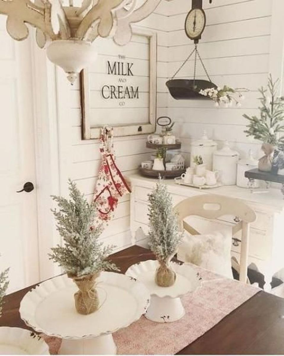 Stunning Winter Theme Kitchen Decorating Ideas 30