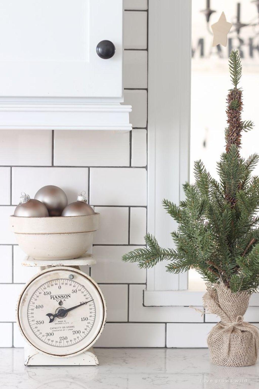 Stunning Winter Theme Kitchen Decorating Ideas 34