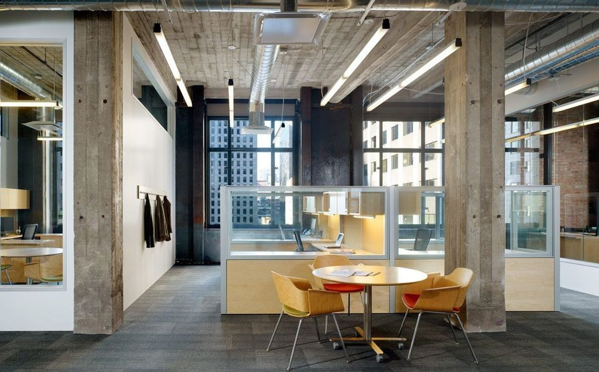 Amazing Open Ceiling Office Design Ideas 31