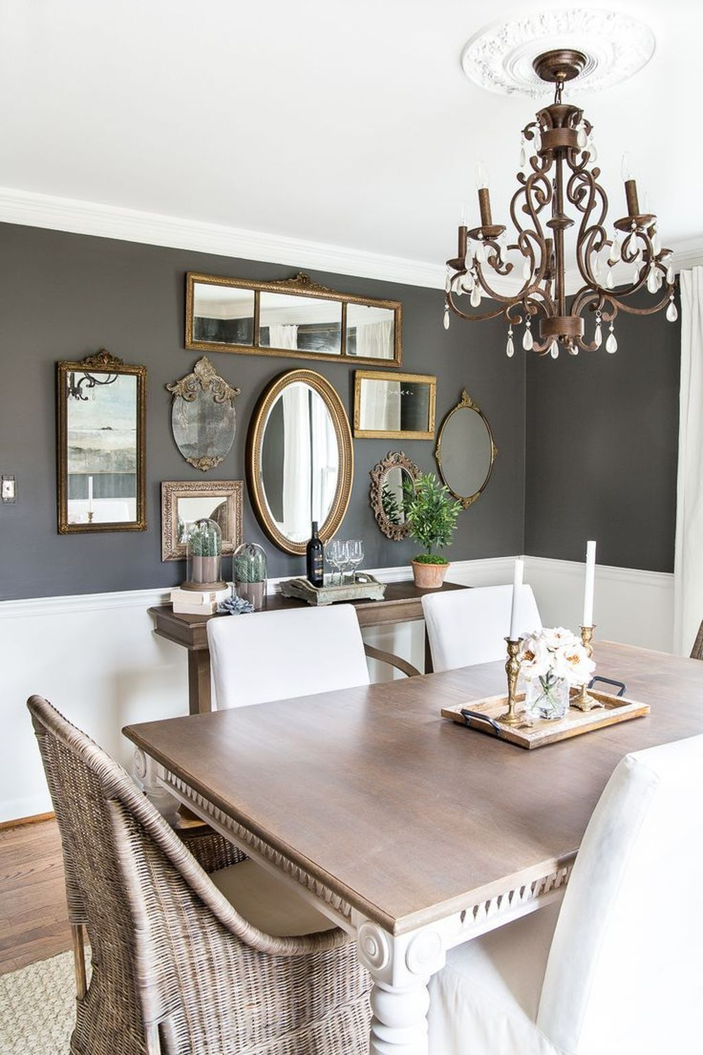 Amazing Wall Mirror Design Ideas For Dining Room Decor 20