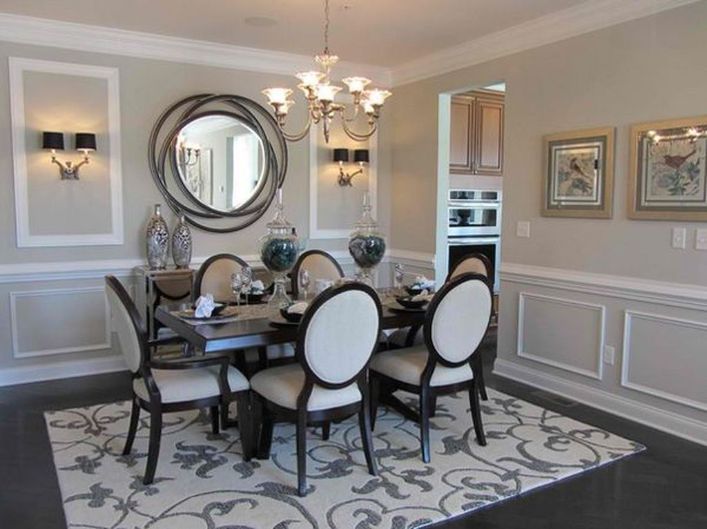 Amazing Wall Mirror Design Ideas For Dining Room Decor 23