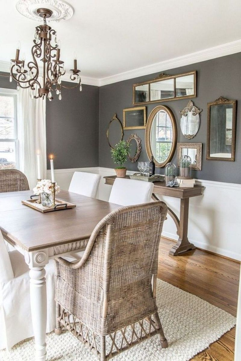 Amazing Wall Mirror Design Ideas For Dining Room Decor 29