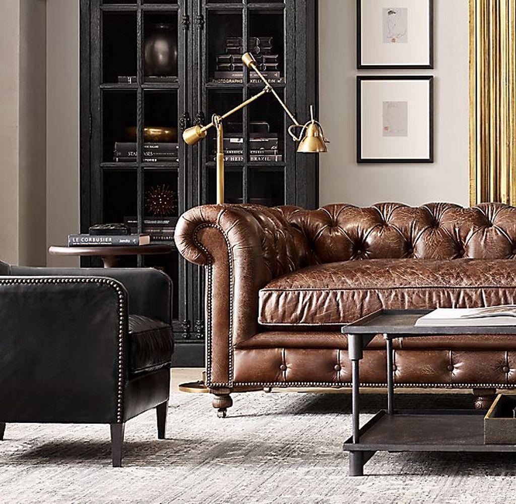Awesome Leather Sofa Design Ideas 13