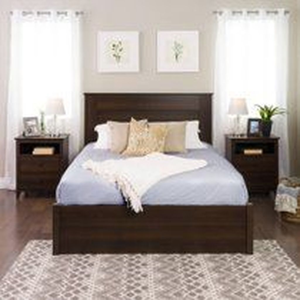 Beautiful Dark Wood Furniture Design Ideas For Your Bedroom 19