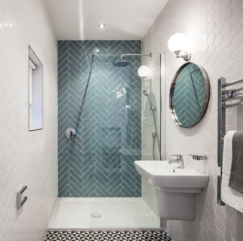 Lovely Bathroom Ceramic Tile Ideas You Should Copy 16