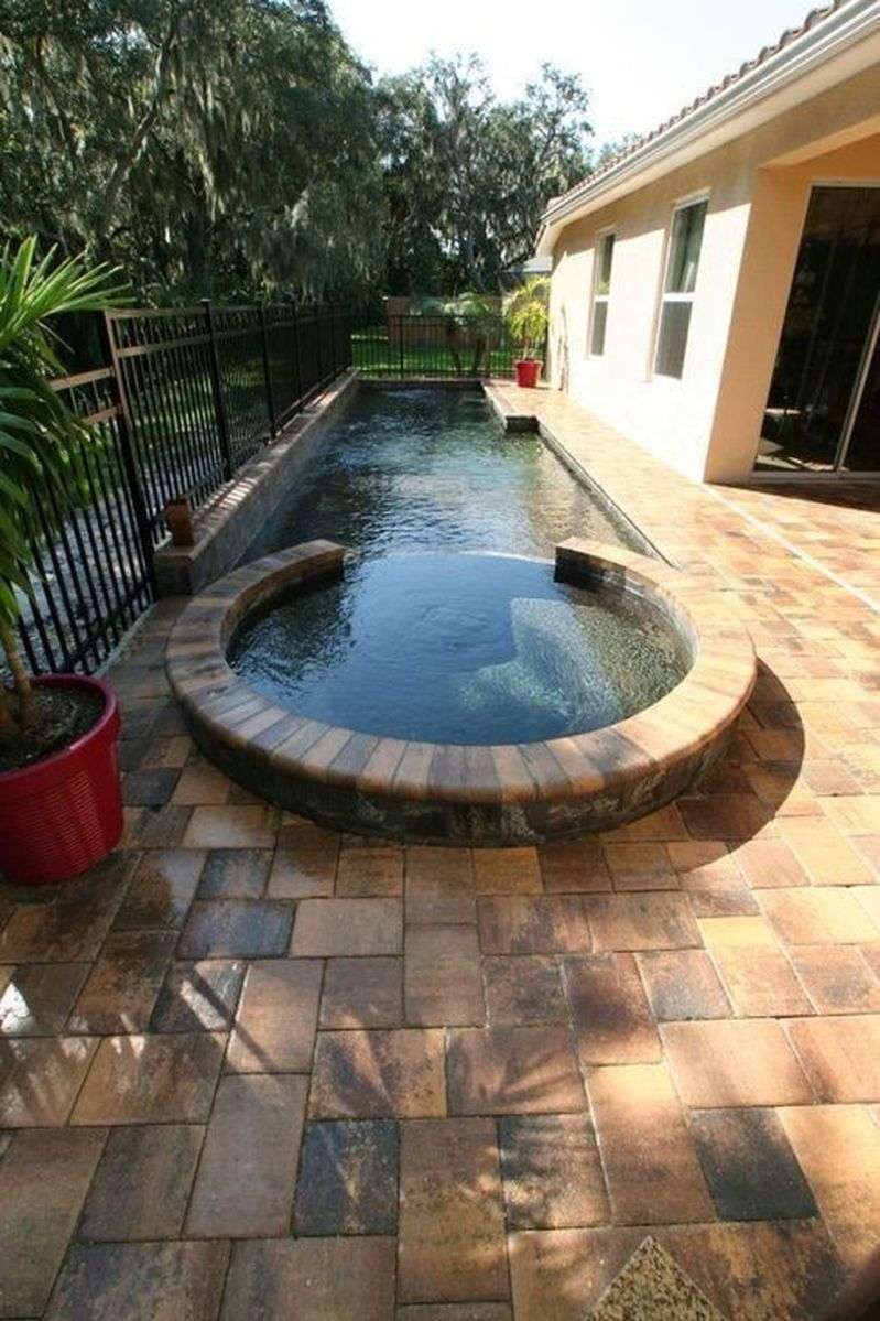 Lovely Swimming Pool Garden Ideas To Get Natural Accent 13