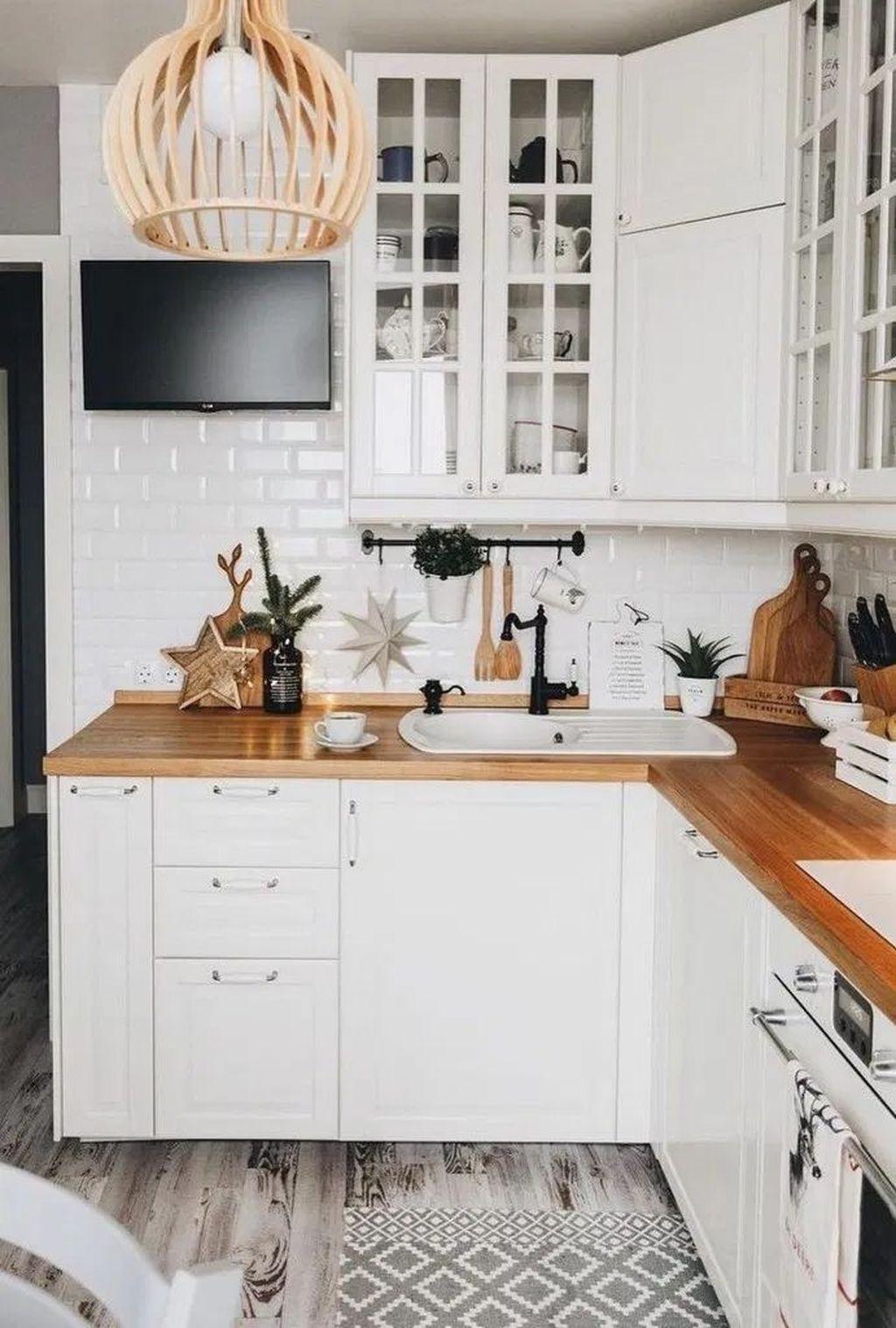 Popular Apartment Kitchen Design Ideas You Should Copy 20
