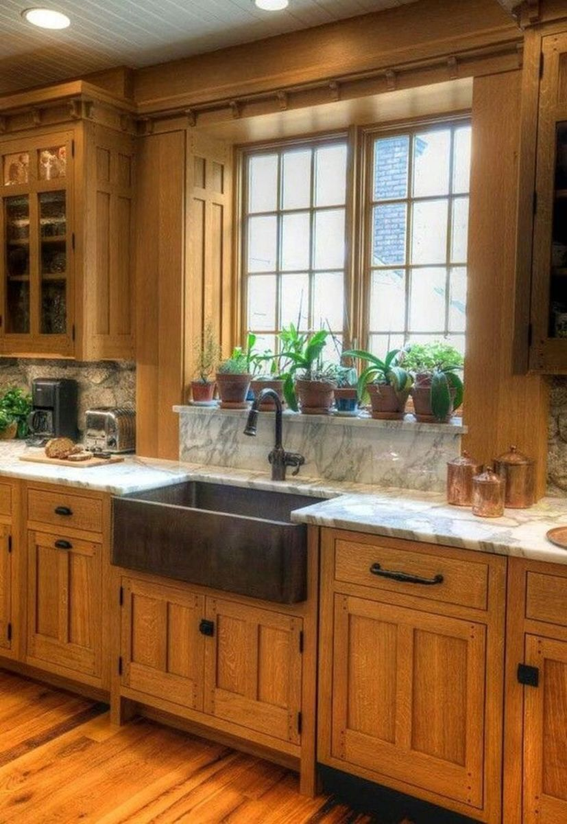 Popular Wooden Cabinets Design Ideas For Your Kitchen Decor 04