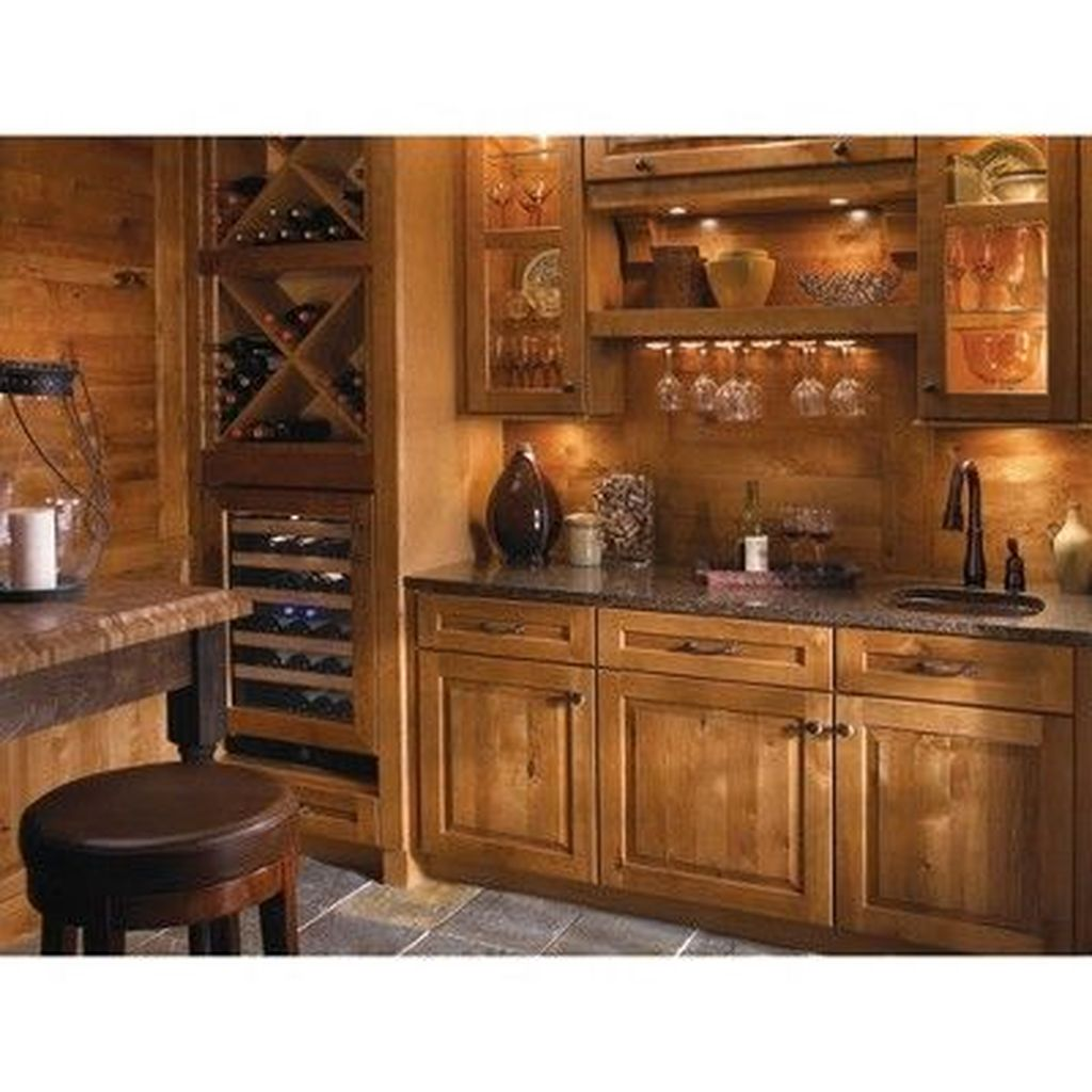 Popular Wooden Cabinets Design Ideas For Your Kitchen Decor 05