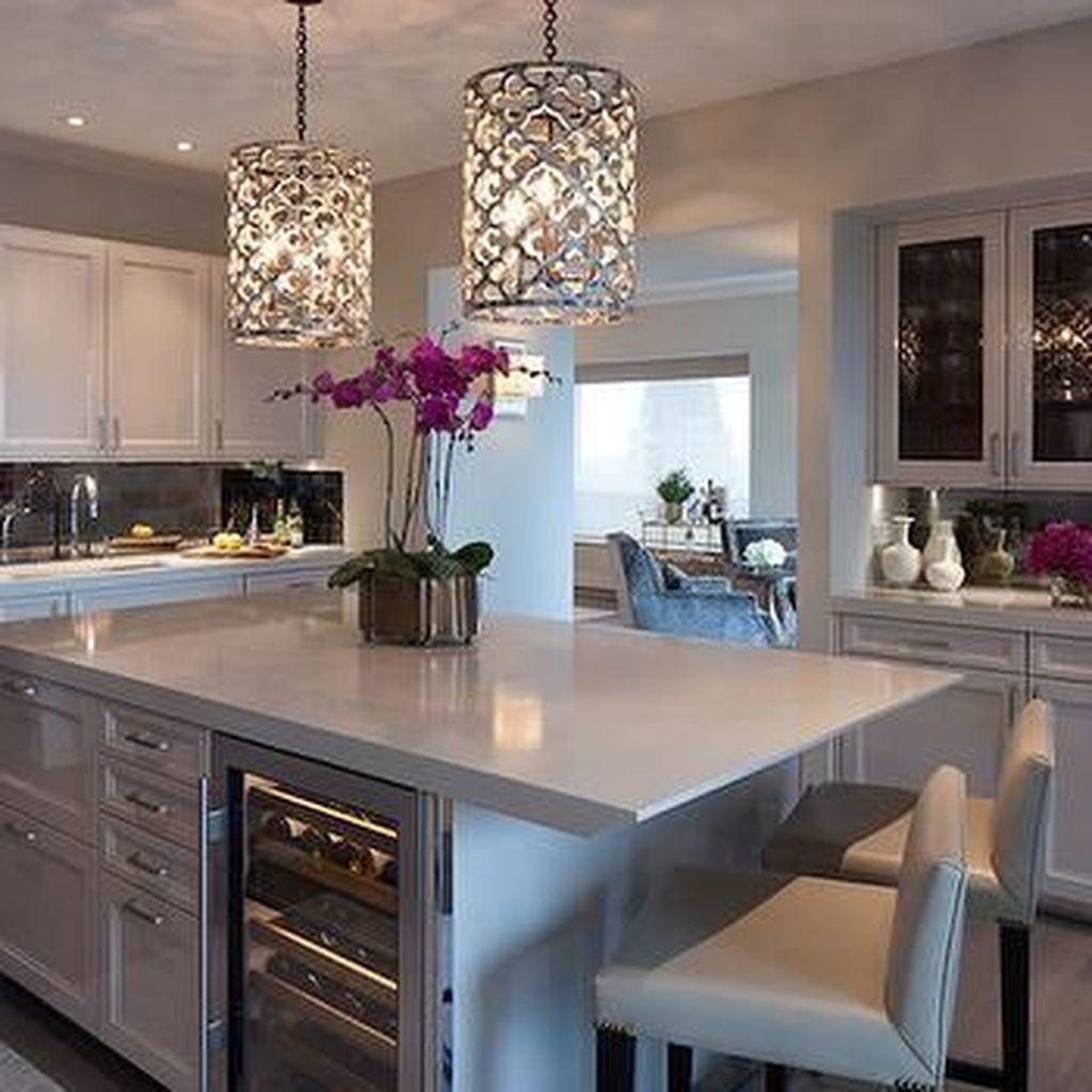 Wonderful Kitchen Lighting Ideas To Make It Look More Beautiful 29
