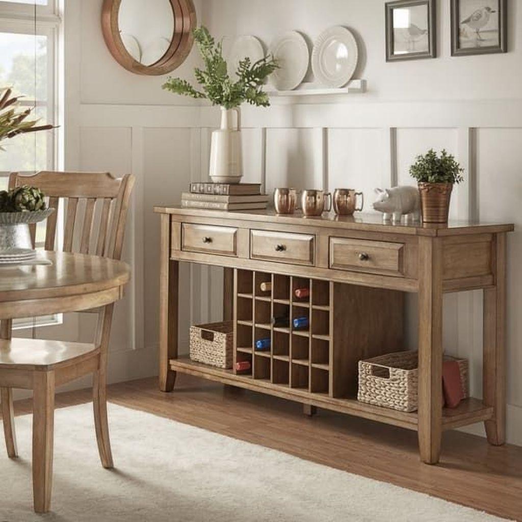 Inspiring Dining Room Buffet Decor Ideas 06