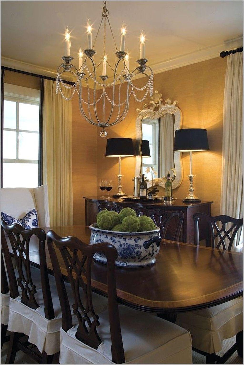 Inspiring Dining Room Buffet Decor Ideas 10