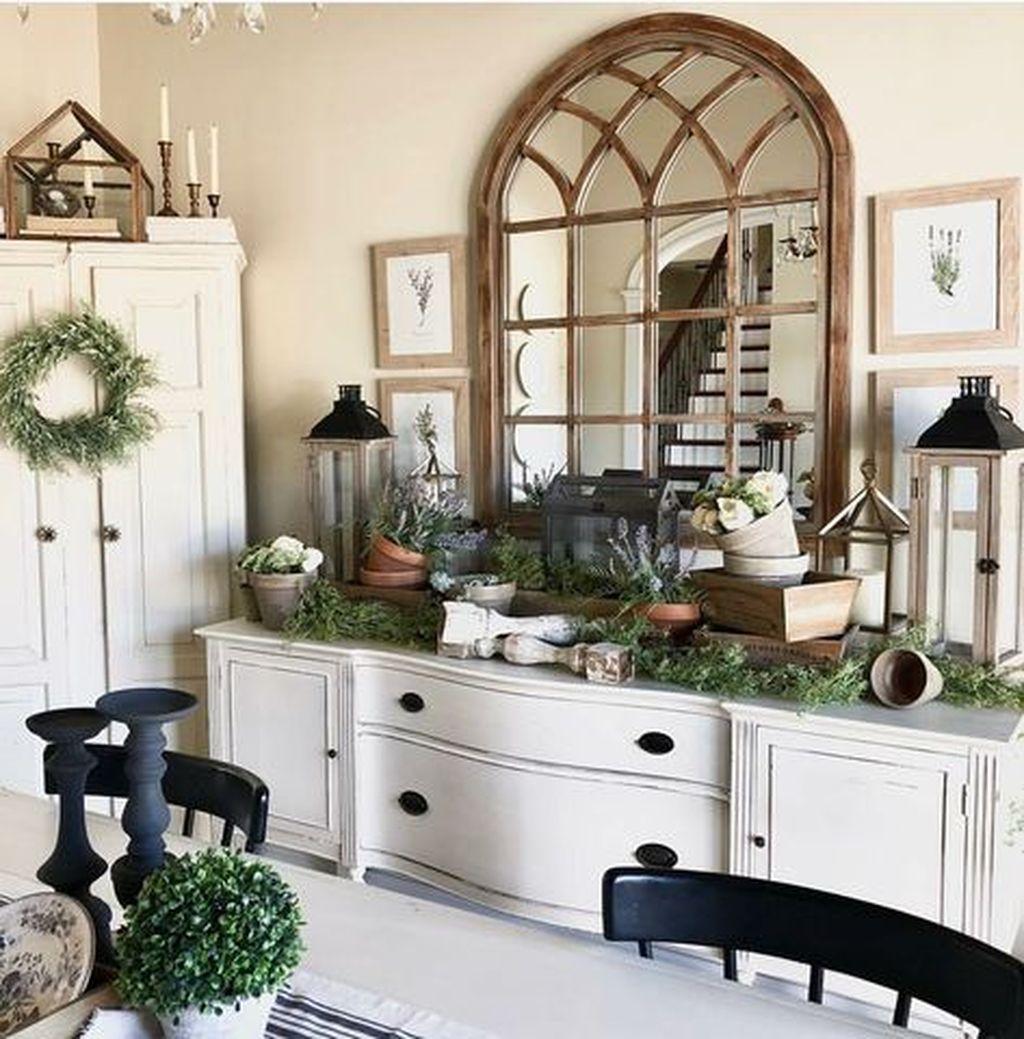 Inspiring Dining Room Buffet Decor Ideas 22