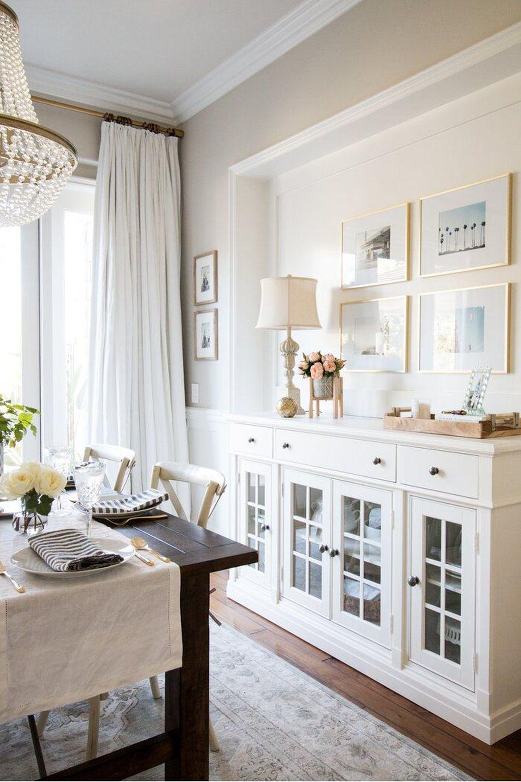 Inspiring Dining Room Buffet Decor Ideas 28