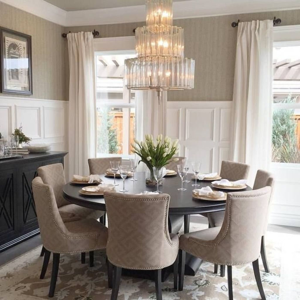 Nice Transitional Dining Room Design Ideas 01