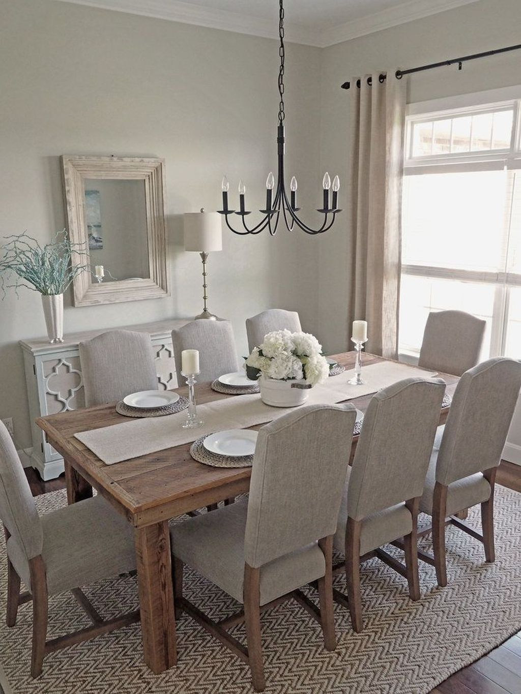 Nice Transitional Dining Room Design Ideas 26