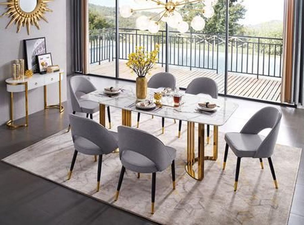 Stunning Dining Room Table Design With Modern Style 29