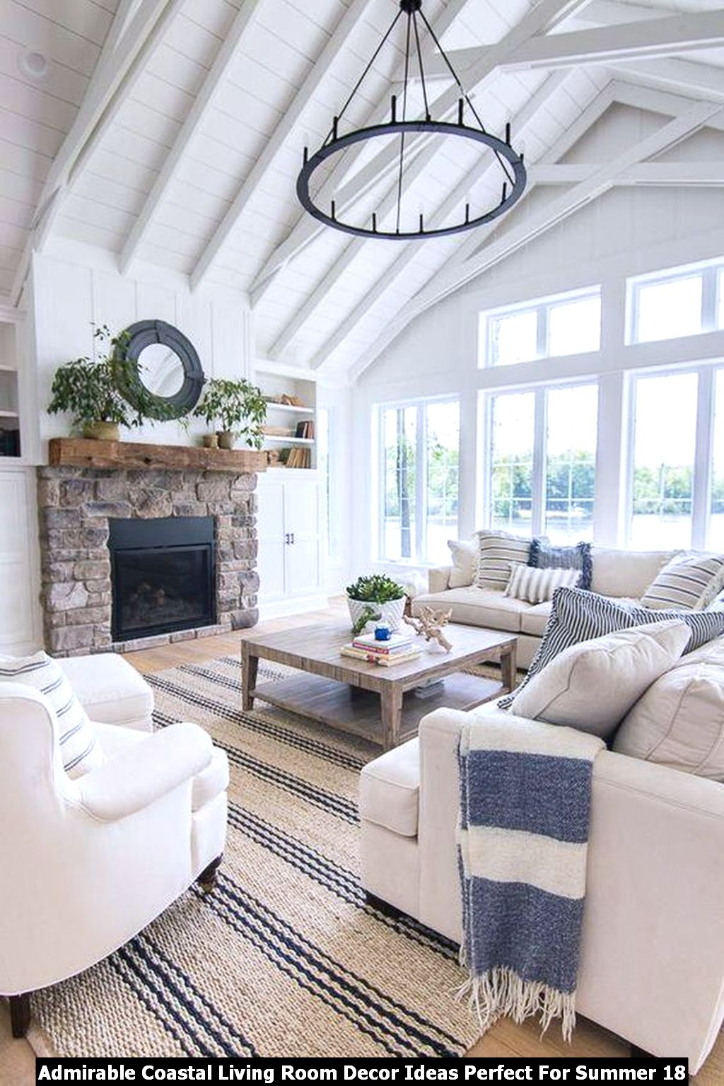 Admirable Coastal Living Room Decor Ideas Perfect For Summer 18