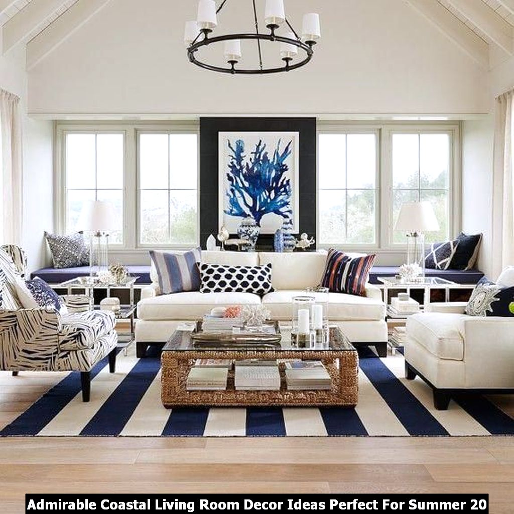 Admirable Coastal Living Room Decor Ideas Perfect For Summer 20