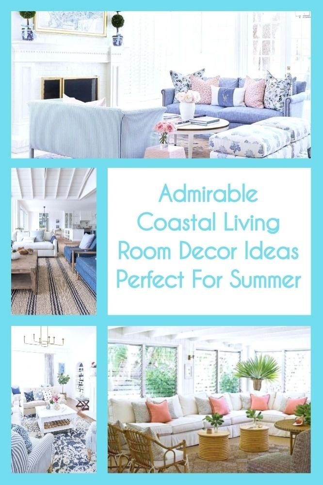Admirable Coastal Living Room Decor Ideas Perfect For Summer