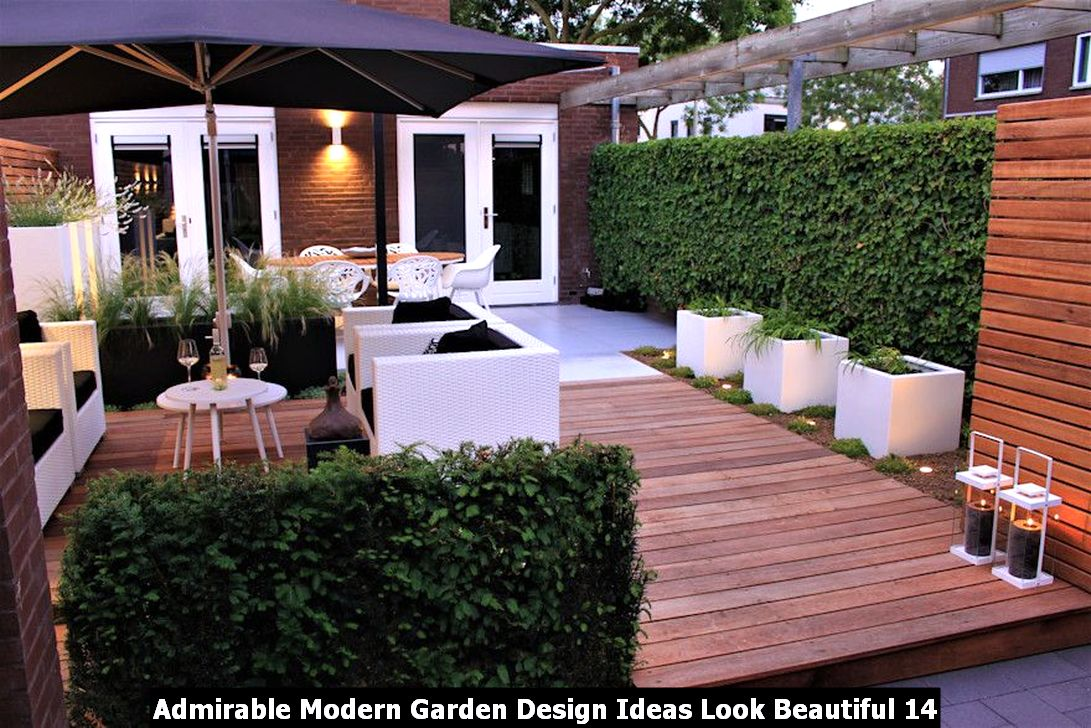Admirable Modern Garden Design Ideas Look Beautiful 14
