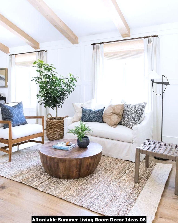 Affordable Summer Living Room Decor Ideas 06
