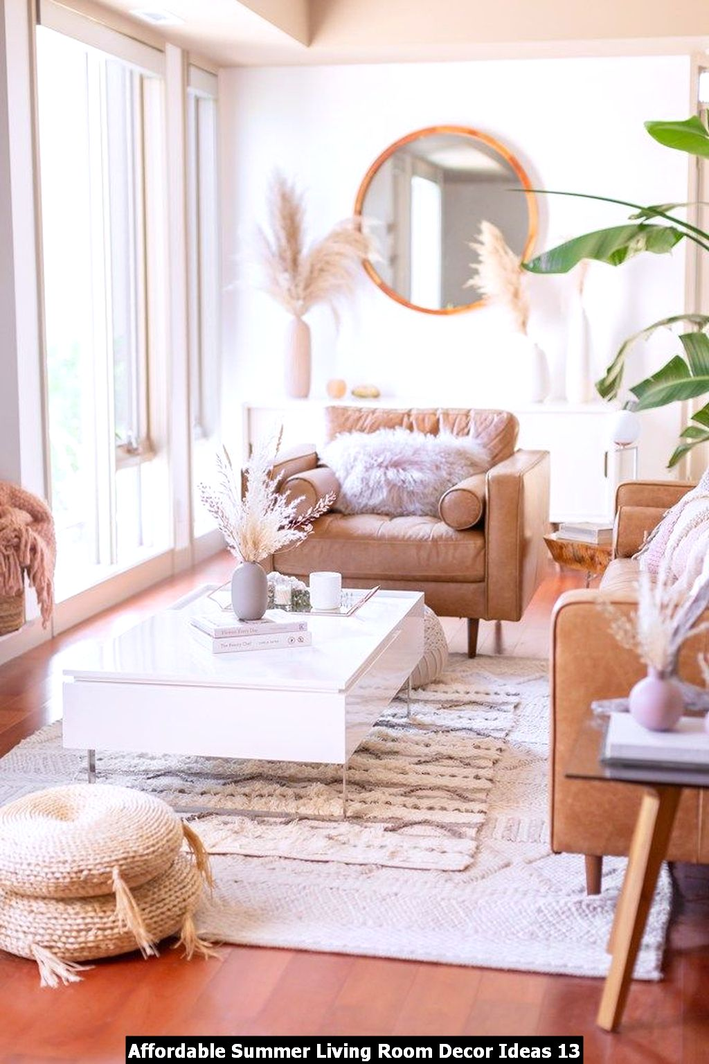 Affordable Summer Living Room Decor Ideas 13