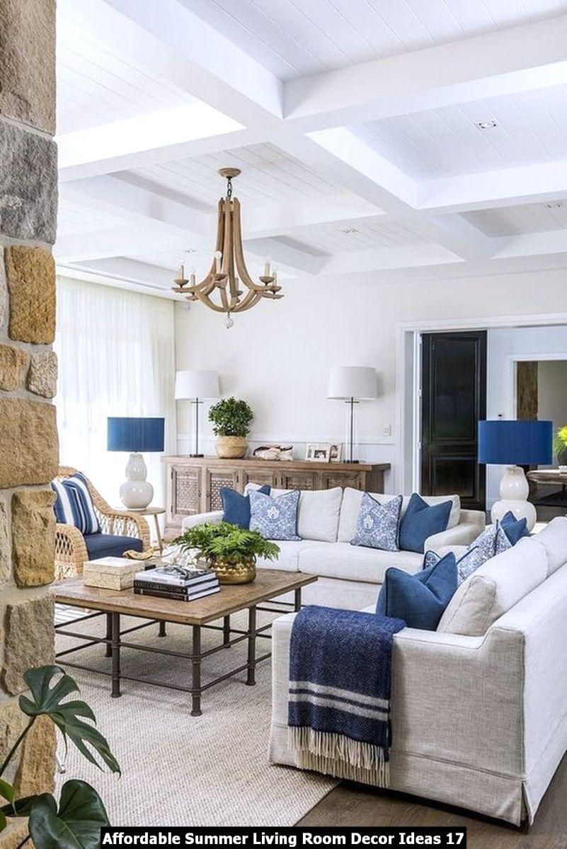 Affordable Summer Living Room Decor Ideas 17
